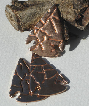 Arrowhead Shape in Pattern - Enameling Metalworking Soldering Blank Variety of Metals