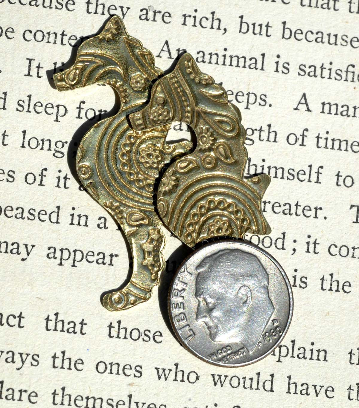 Seahorse Shape, Paisley 24g Textured Blanks Metalworking Stamping Texturing Jewelry Making Blank Variety of Metals,