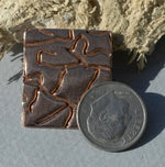 25mm x 22mm Rectangle Blanks with Texture - Variety of Metals