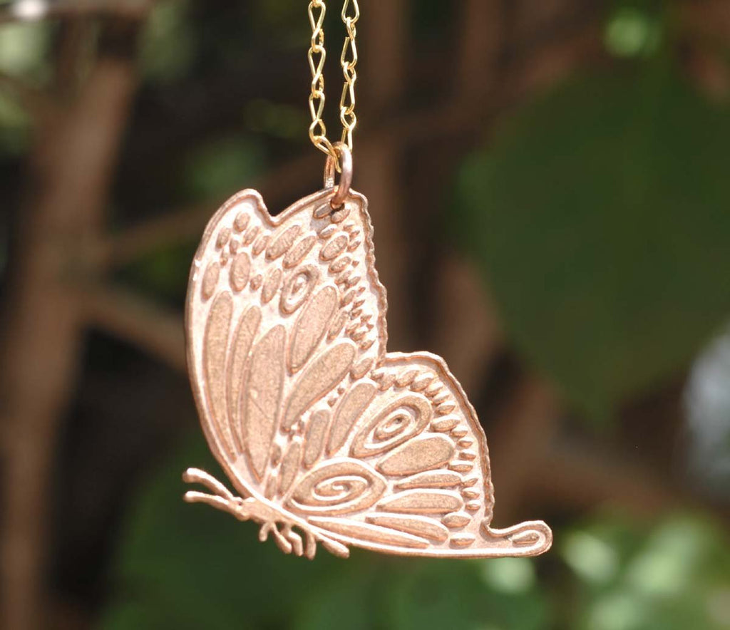 Copper Butterfly Blank 40.3mm x 40.7mm Cut Out Metalworking Stamping Texturing Jewelry Blanks Variety of Metals,