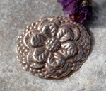 Oval Shape with Flower Texture for Blanks Enameling Stamping Texturing - Variety of Metals 6 Pieces