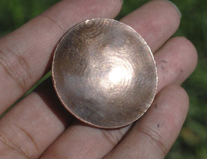 Domed Discs Textured Conical 2 for Finding Jewelry Metalworking Finding Blanks, Variety of Metals,