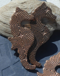 Seahorse Blank Cutout 41mm x 19mm Variety of Metal, Metalworking Blanks Hexagon Texture - 4 pieces