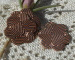 Jewelry Blank Flower with Texture 19mm Metalworking  Blanks, Enameling Blanks - Copper 6 Pieces