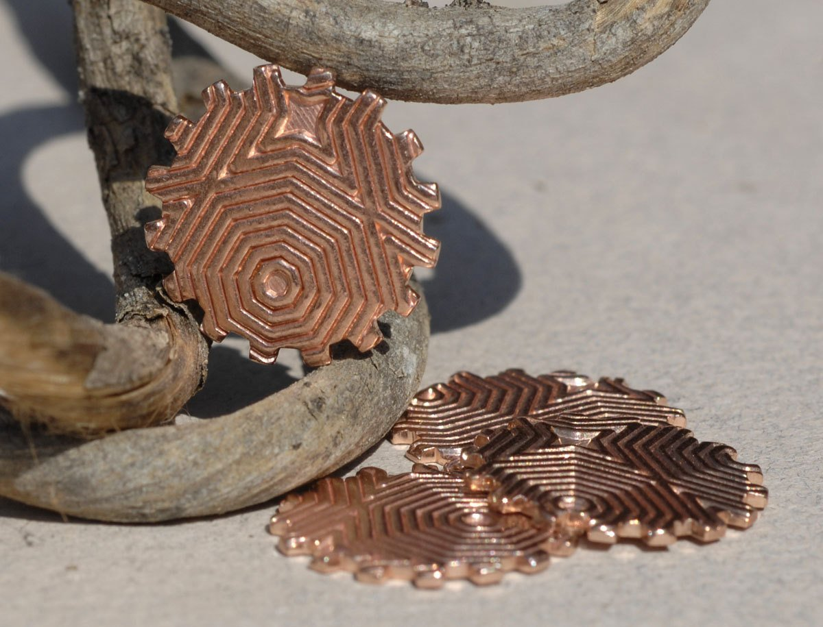 19mm Gear Cog Cutout for Jewelry Making