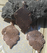 Handmade Leaf with Hole, Enameling Blank Cutout for Metalworking - Variety of Metals - 4 Pieces