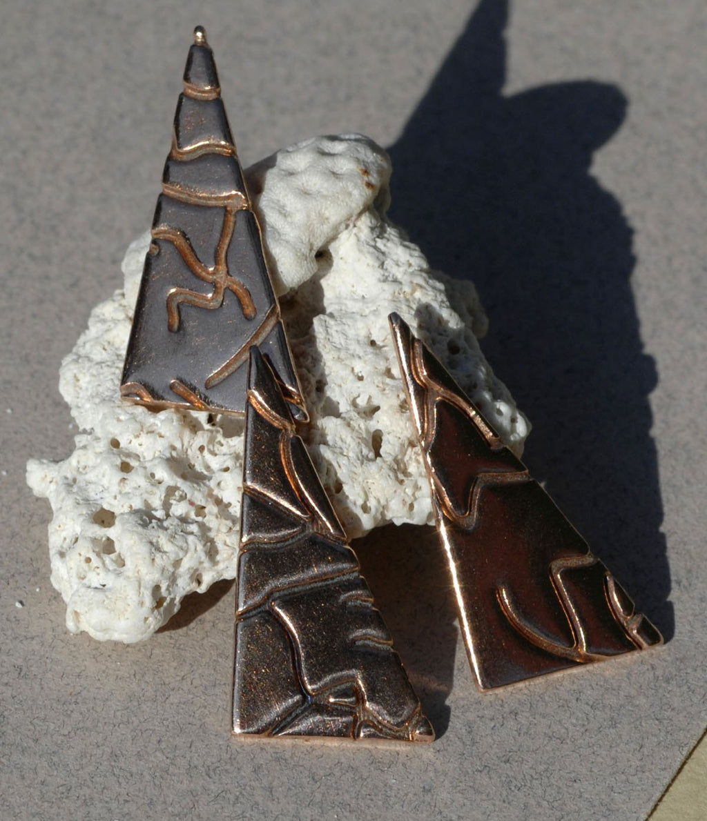 Triangle with Root or Lightning Texture 15mm x 30mm
