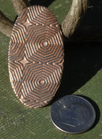 Blank Oval Cutout 40mm x 22mm with Hexagon Texture