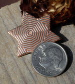 Star of Israel 23mm Blank Cutout for Stamping Texturing Soldering Blanks Variety of Metals