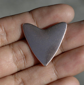 26mm x 25mm Heart Shape Cutout for Enameling Stamping Texturing Blanks - Variety of Metals