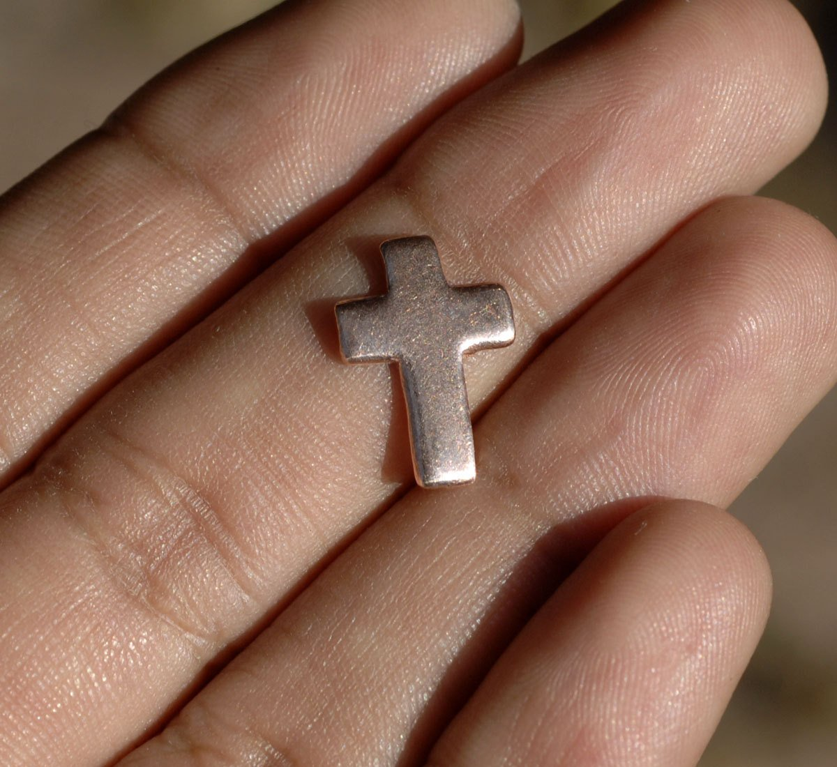Cross 11mm x 15mm Religious, Metal Blanks Cutout for Enameling Stamping Soldering - Variety of Metals  6 pieces