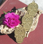 NEW Diamond Sugar Skull Calavera Pendant Lots of Details Traditional Dia de Muertos Day of Dead 20g