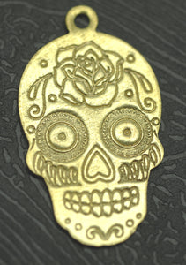 Sugar Skull New Calavera Pendant Lots of Details Traditional Dia de Muertos Day of Dead 20g