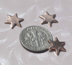 Tiny Star Shaped Blanks, 11mm Stamping Enameling Enameled, variety of metals