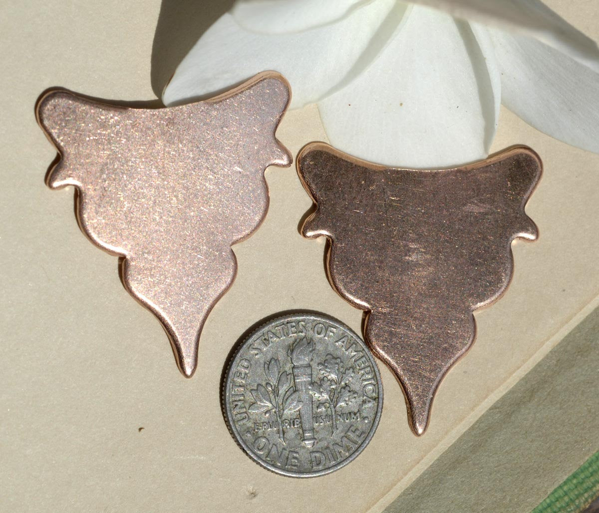 Copper Blanks - Art Deco Flower Blanks