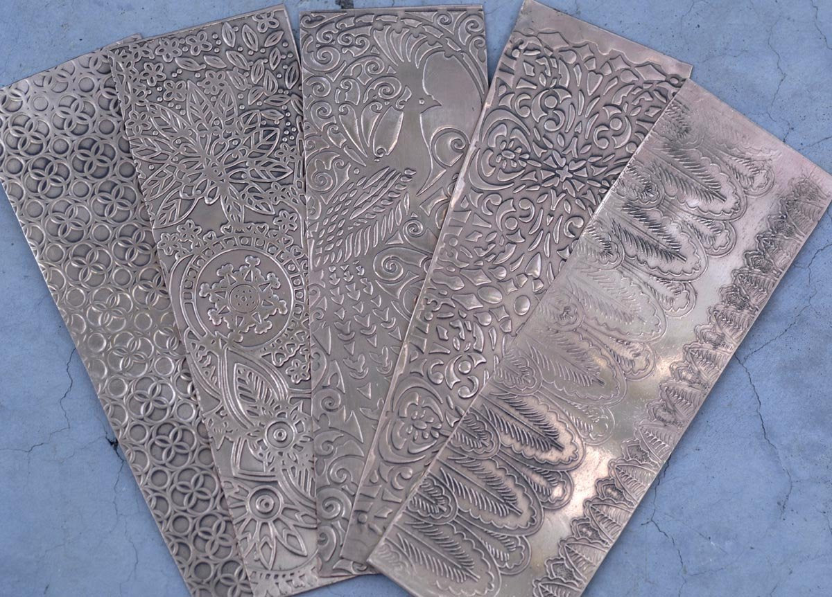 Limited Edition: Feathers or Leaves Textured Metal Sheet Pattern 20g
