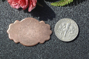 Bohemian scalloped ovals metal blanks for making jewelry