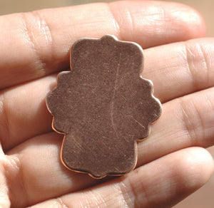 Copper Moroccan Frame Blank Shape Blank  for Enameling Metalworking Polished Blanks Variety of Metals, 4 Pieces