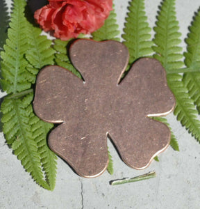 Large Flower Blanks Shape for Enameling Metalworking Polished Blanks Variety of Metals, 4 Pieces