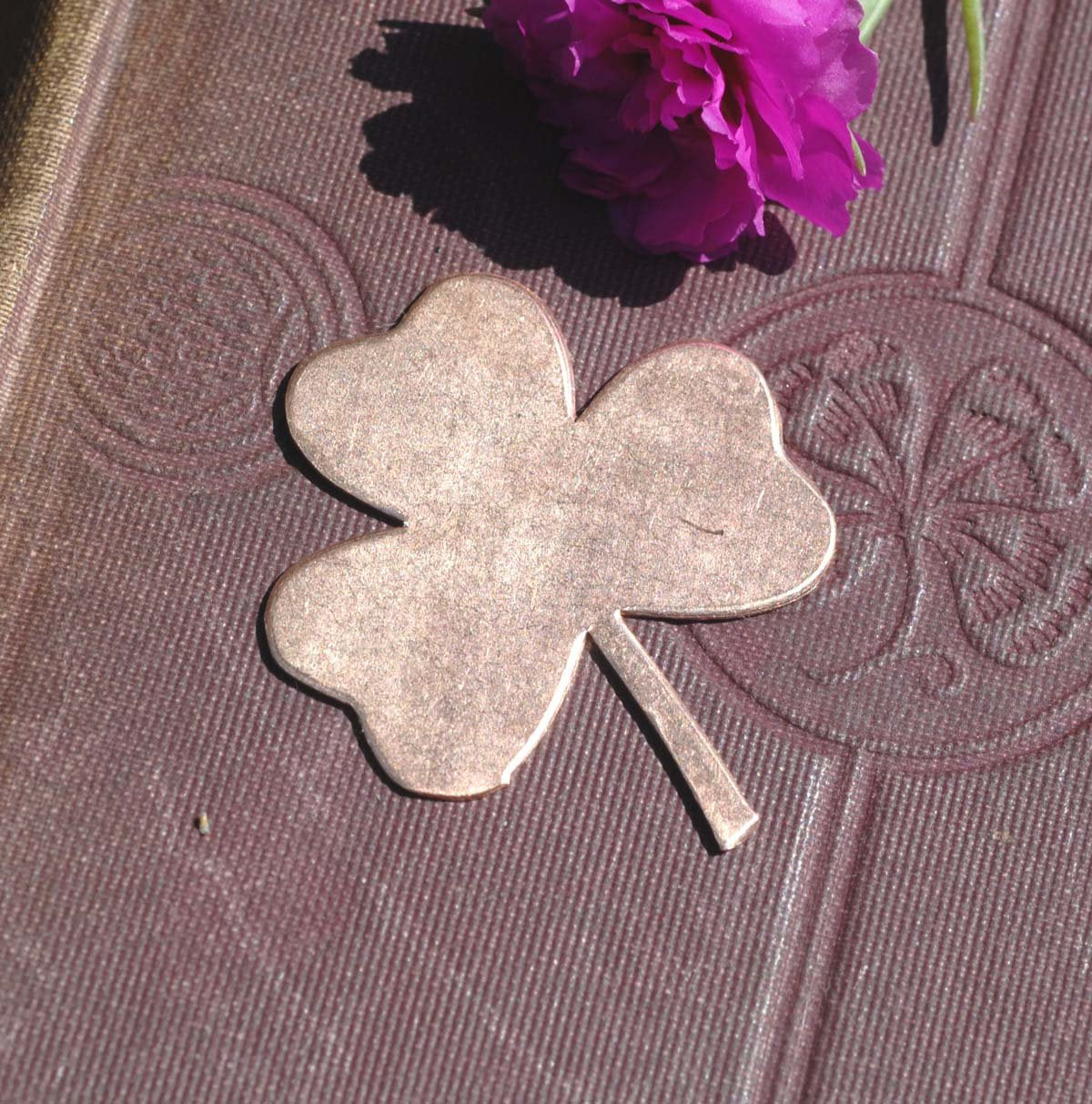 Three Leaf Clover Blank for Enameling Stamping Metalworking Blanks Variety of Metals, 4 Pieces
