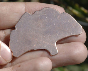 Medium Ginkgo Leaf Blanks Shape for Enameling Metalworking Polished Blanks Variety of Metals, 3 Pieces