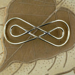 Bronze Handmade Domed Infinity Symbol Centerpiece Focal Point Finding - Jewelry Designing Findings