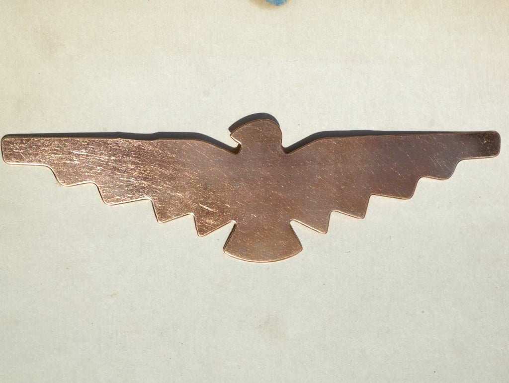 Tribal bird cuff 6 1/5 inches x 1 13/16 inches,  for Enameling Stamping Texturing Blanks- Variety of Metals