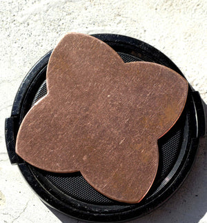 Copper Wide Quatrefoil Flower 49mm 20g,Blanks Enameling Stamping Texturing Variety of Metals - 2 pieces