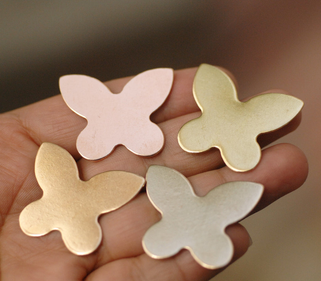 Metal Blanks Butterfly Shapes 31.5mm x 26mm for jewelry making
