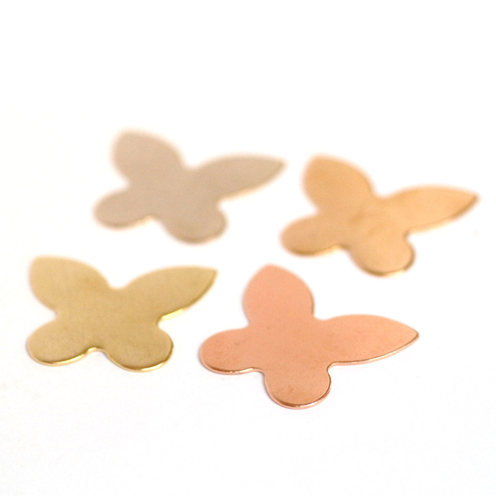Metal Blanks Butterfly Shapes 19mm x 24mm for jewelry making