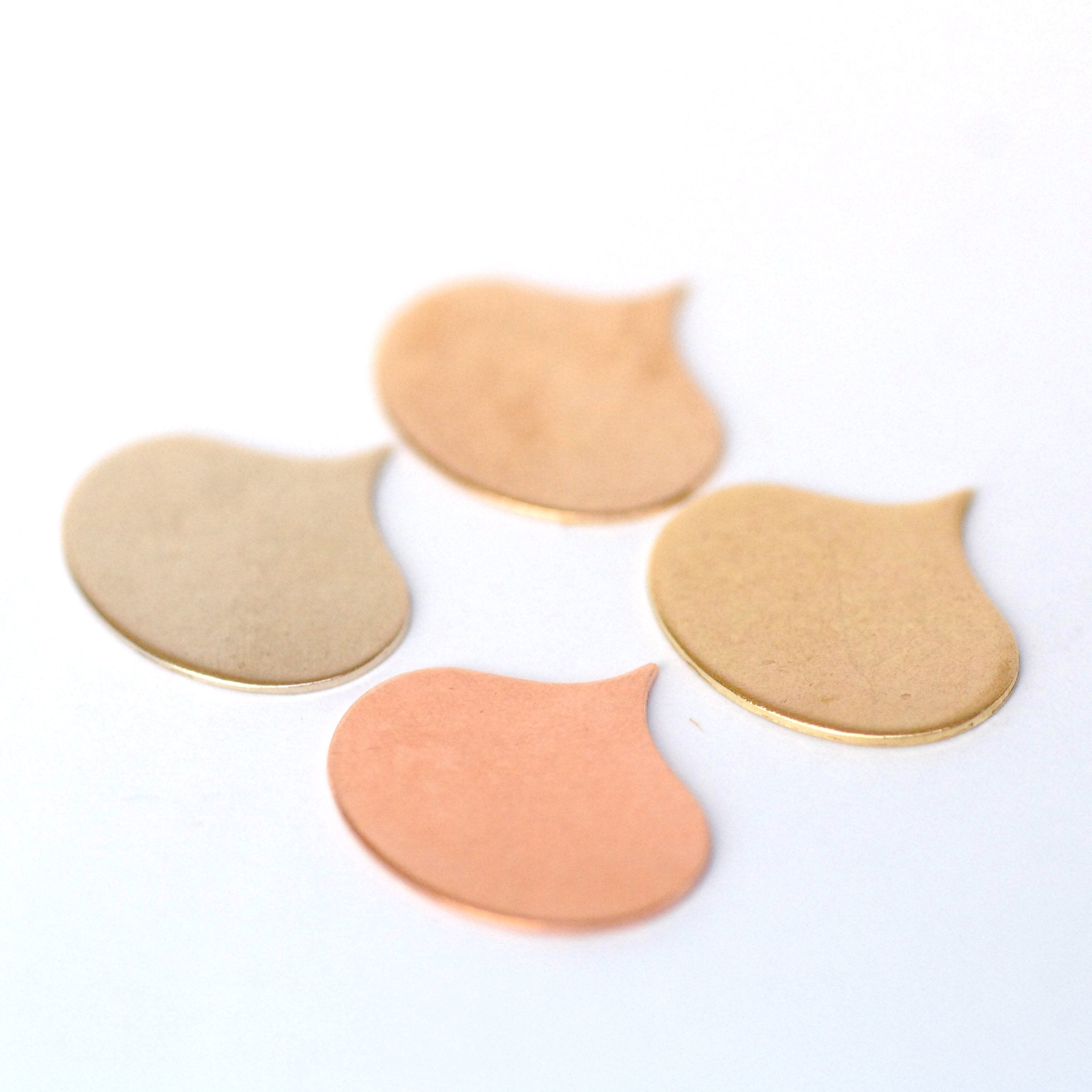 Cloud Teardrops 21mm x 19mm 24g, 22g, or 20g Blank shapes for enameling and jewelry making