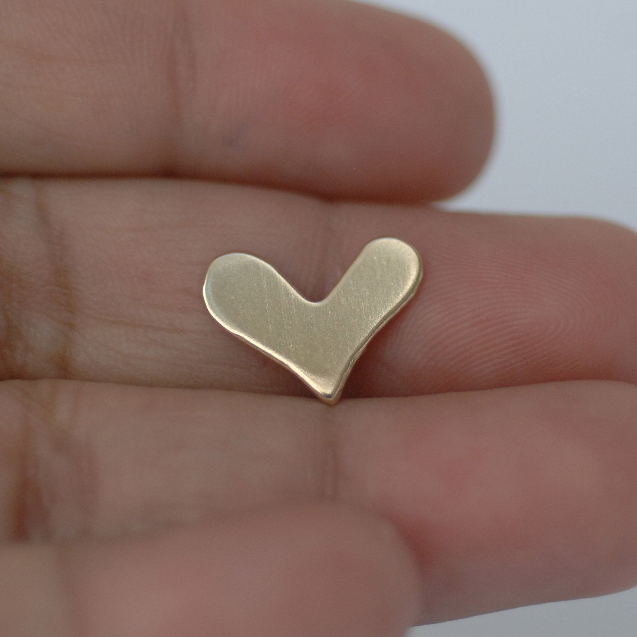Deep V Heart blanks 14mm x 11mm 20g for Enameling copper, brass, bronze, nickel silver