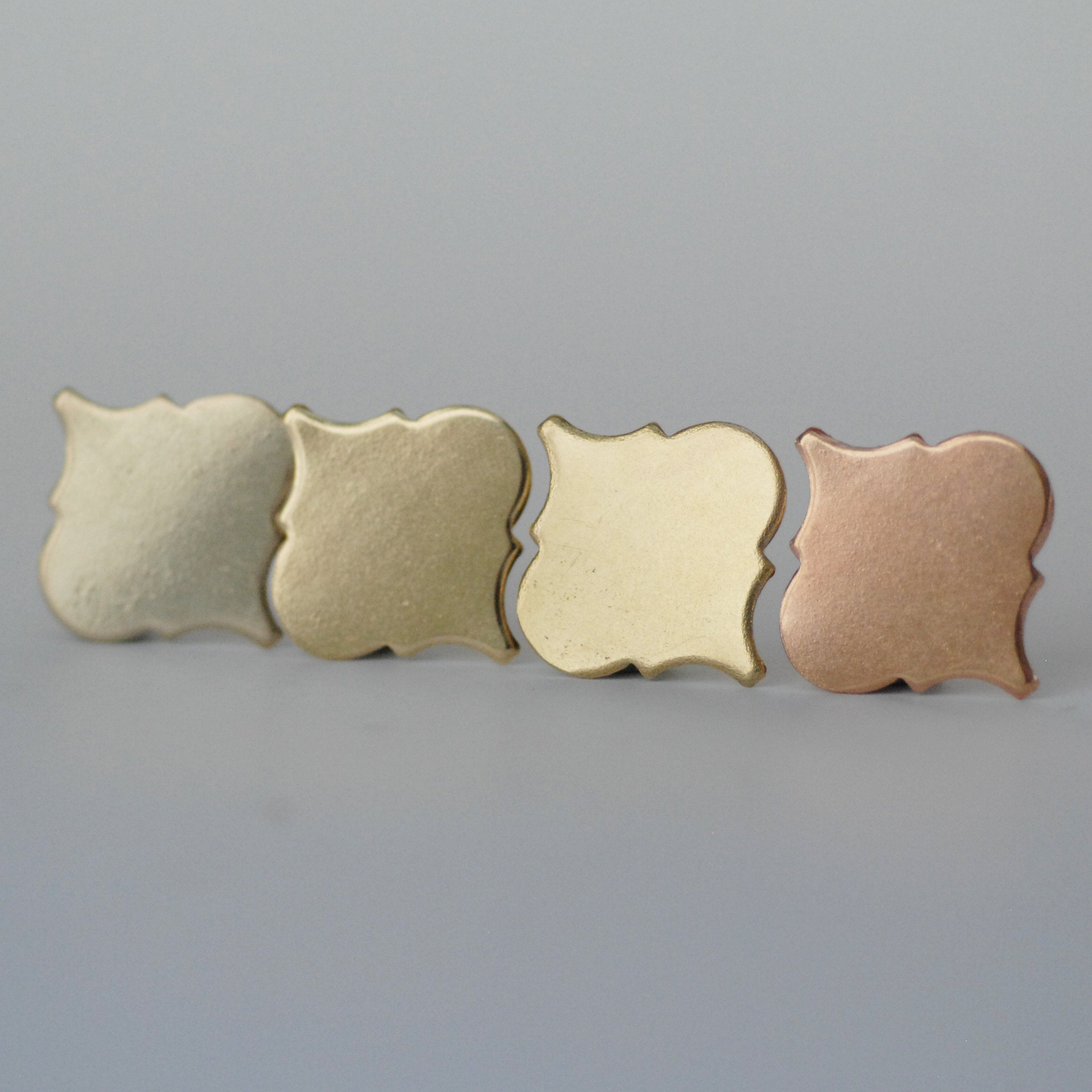 Small Moroccan Inspired metal blanks for making jewelry - copper, brass, bronze, nickel silver