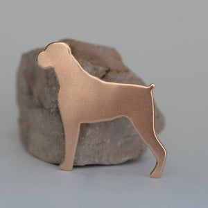 Boxer Dog shapes for making jewelry, keychains, metal blanks copper, brass, bronze, nickel silver
