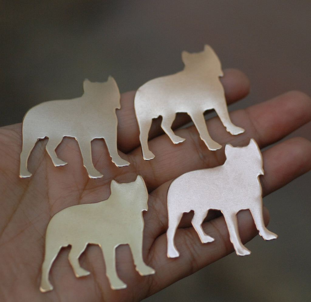 French Bulldog Dog shapes for making jewelry, keychains, metal blanks copper, brass, bronze, nickel silver