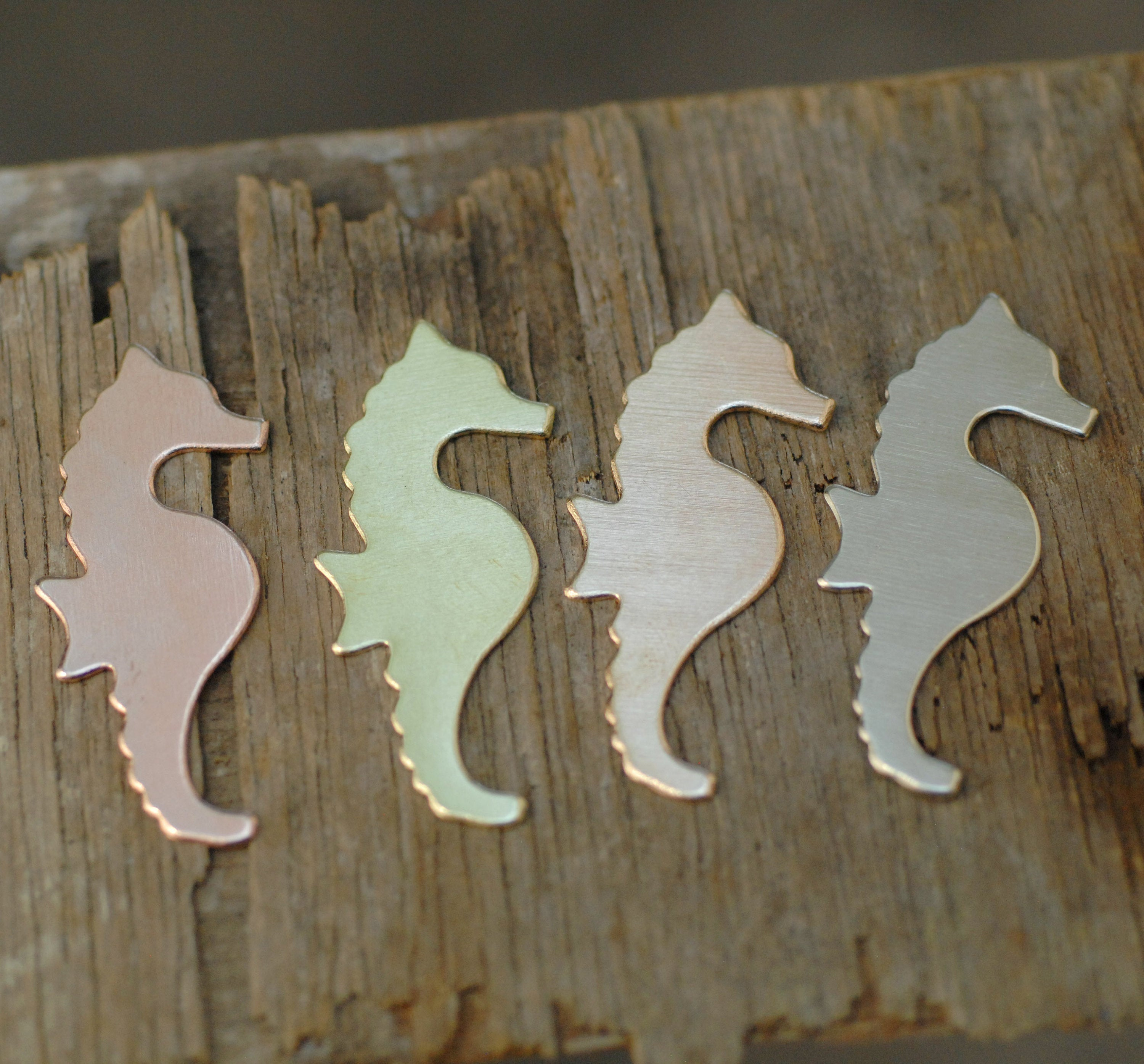Seahorse Cute Blanks Enameling Stamping 100% Copper Blank brass, bronze, nickel silver 24g 22g 20g