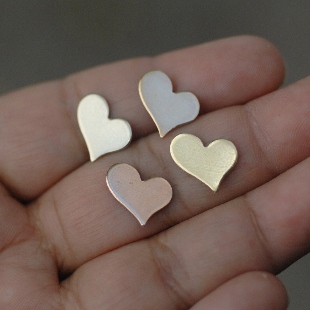 Heart Blank 10mm x 12.5mm Cutout for Enameling Stamping Texturing Blanks