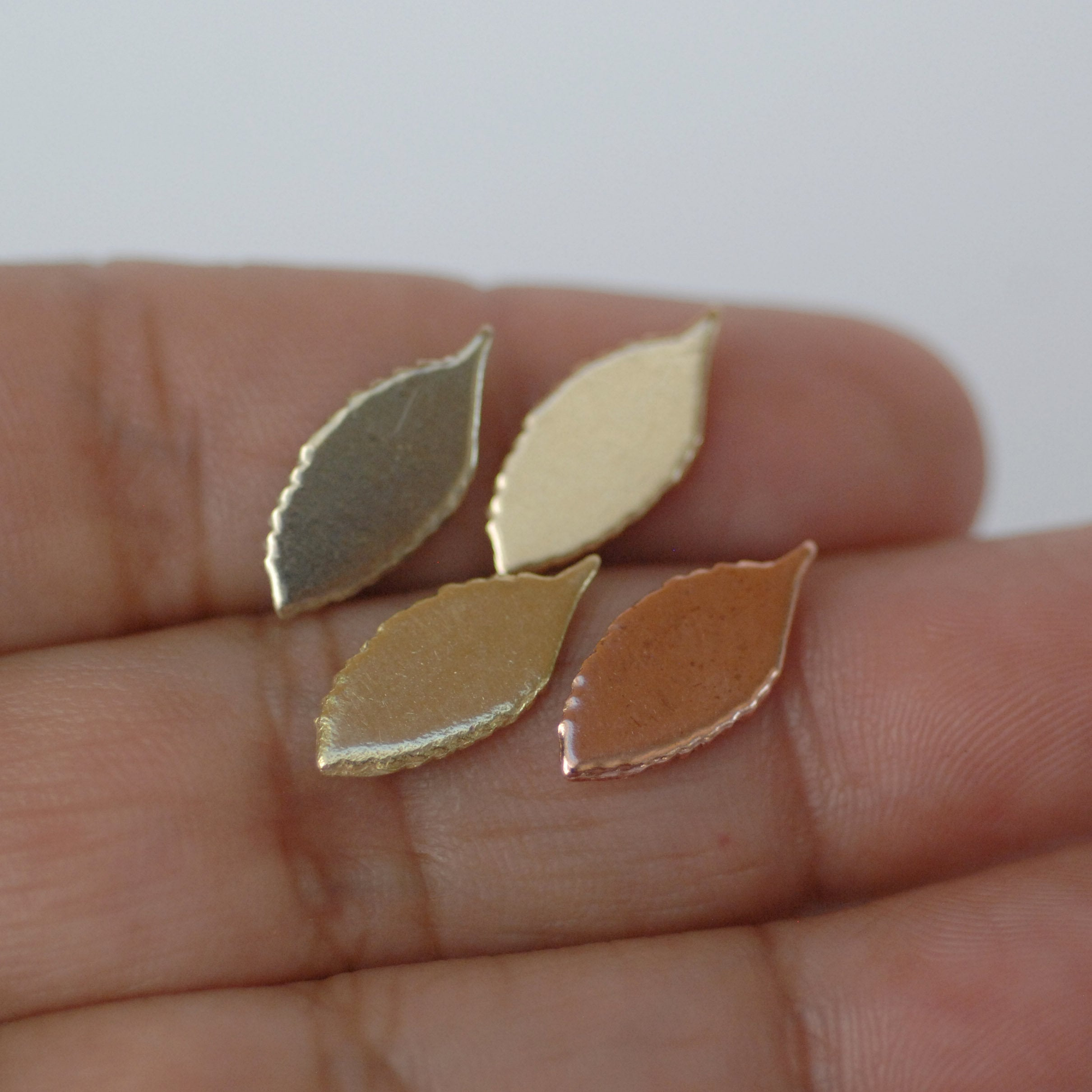 Tiny Leaf shapes - Leaves blank shape for making jewelry