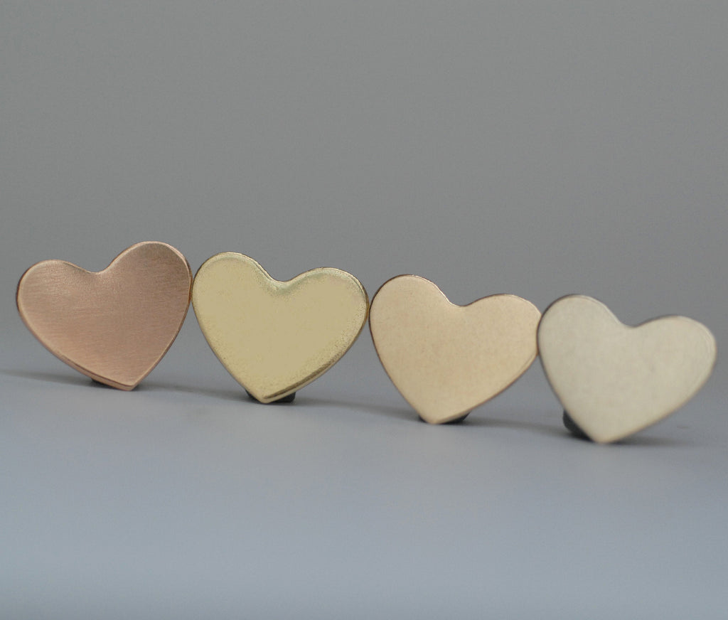 Classic heart shapes 18mm x 15mm 20g 22g 24g metal blanks for making jewelry