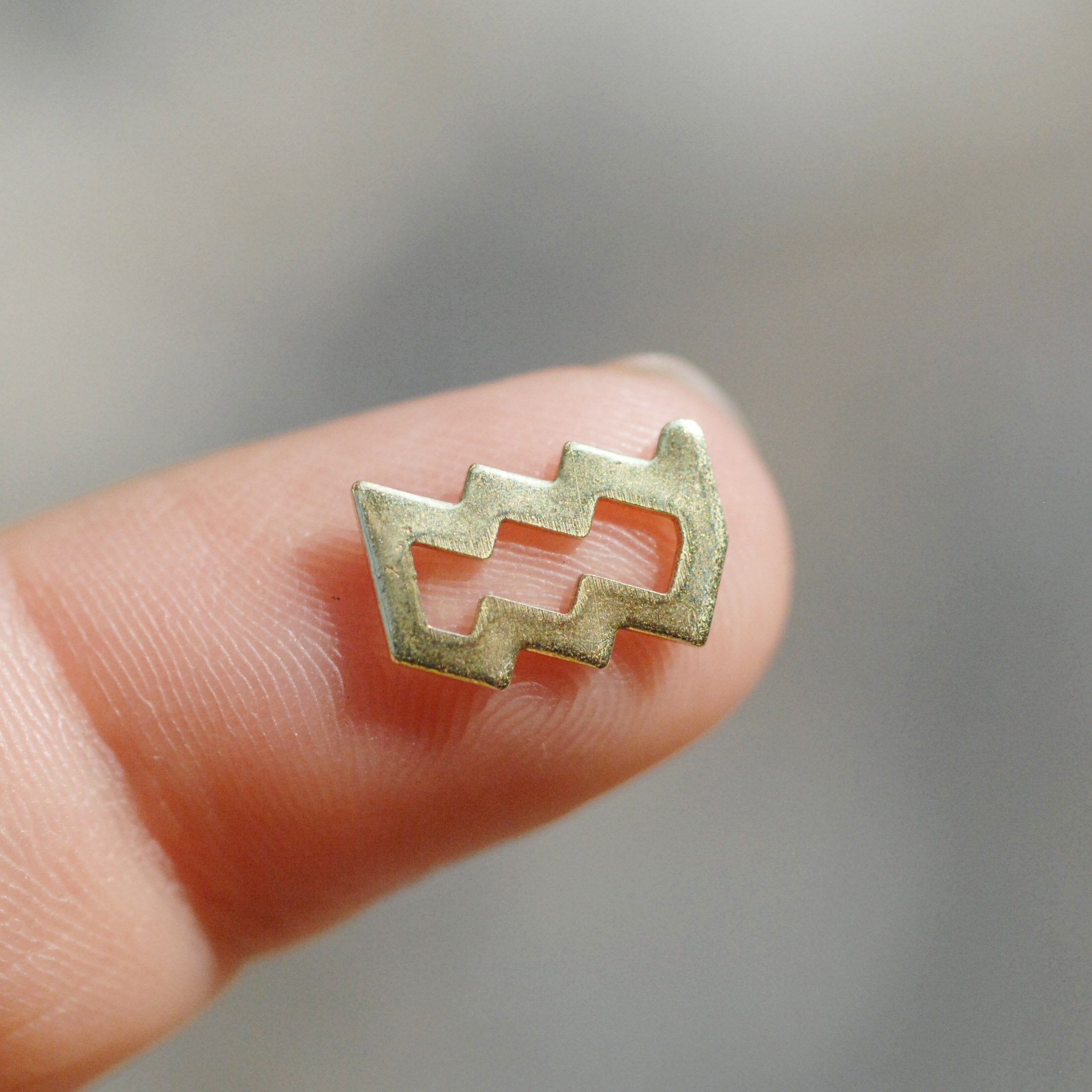 My MOST tiny Aquarius zodiac sign shapes 24g Mini miniature metal blanks for making jewelry copper, brass, bronze, sterling silver 925