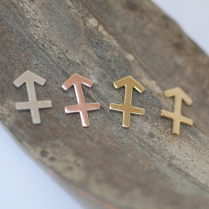 My MOST tiny Sagittarius zodiac sign shapes 24g Mini miniature metal blanks for making jewelry copper, brass, bronze, sterling silver 925