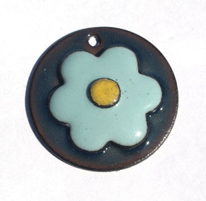 Flower 19.5mm Woodgrain Pattern  Blank Cutout for Enameling Stamping Texturing Blanks Variety of Metals