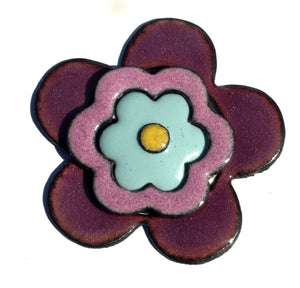 Heart in Lotus Flowers Pattern Classic Shape 33mm x 30mm 20g Blanks Cutout for Enameling Stamping Texturing Variety of Metals