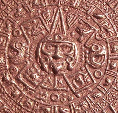 Copper Aztec Calendar or Calendario Azteca 3D shape you cut it out