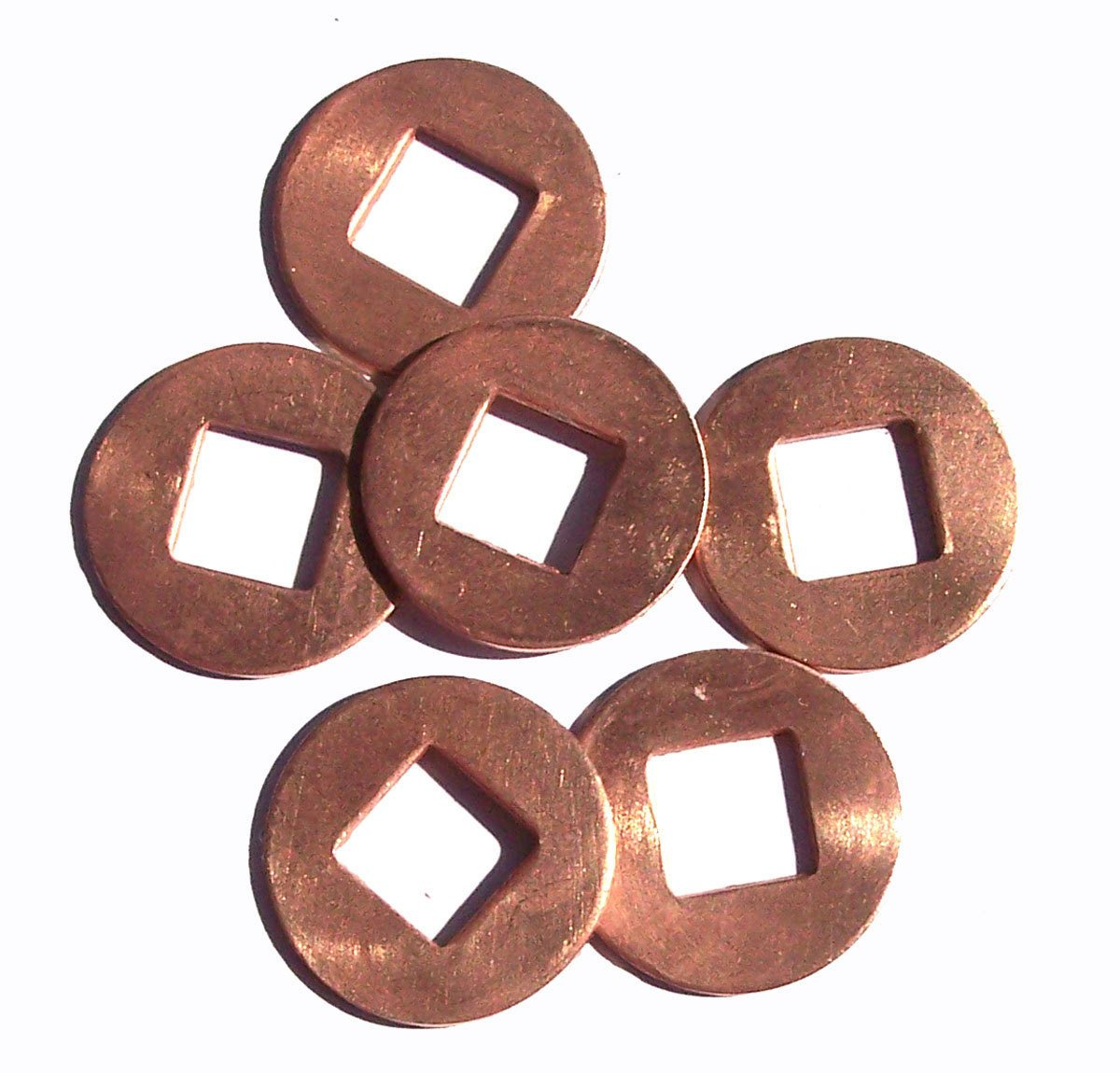 3/4 inch Copper Donut Washer 20mm Cutout for Enameling Stamping Texturing Blanks, Jewelry Supplies 20G