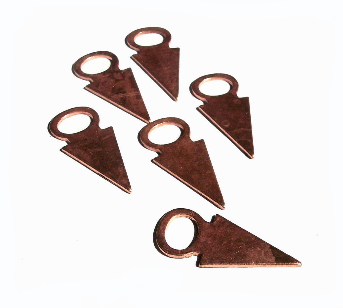 Tanfolk 30mm x 13mm 20g Figure for Enameling Stamping Texturing - 6 pieces
