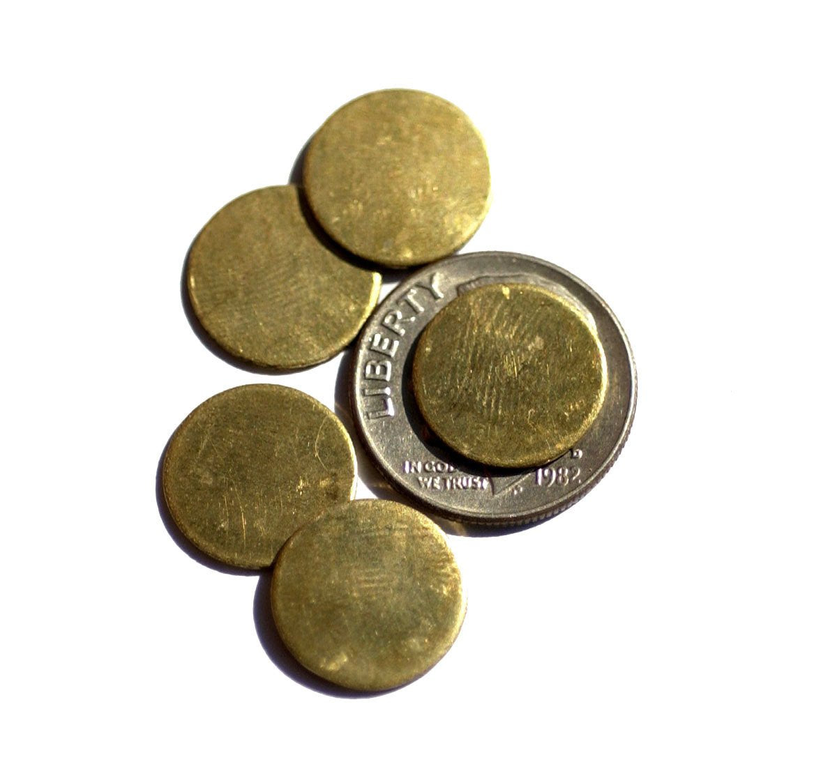 Cutout for Soldering Stamping Texturing Brass Disc 12mm 20g Circle Blank - 12 pieces