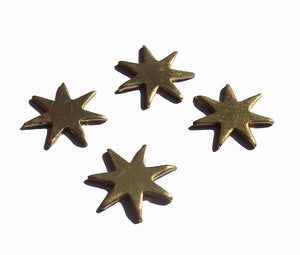 Star Fireworks Stars Blank for Soldering Stamping Texturing Soldering Blanks - Variety of Metals - 8 pieces