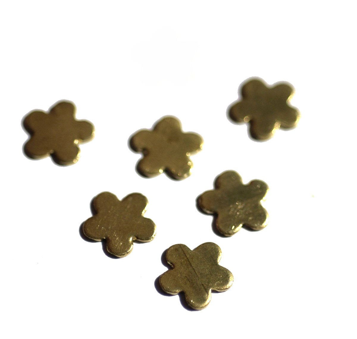 Flower Blank Metalworking Cutout Figure for Blanks Soldering Stamping Texturing  9mm, - 6 pieces