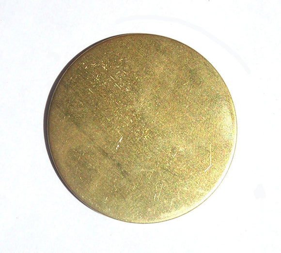 30mm Brass Disc Blank 22G Enameling Soldering Stamping Texturing Blanks - Jewelry Supplies - 5 Pieces